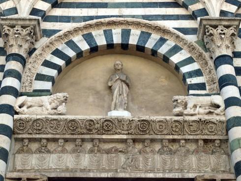 lunette, middelalder, historisk bydel, gamleby, Pistoia, Toscana, Midt-Italia, Italia