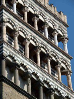Duomo San Zeno, blindarkader, romansk, pisansk, Pistoia, Toscana, Italia