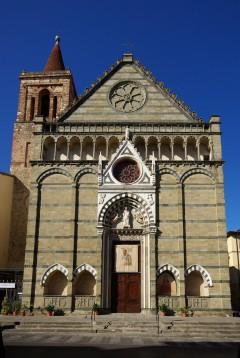 romansk-gotiske San Paolo, middelalder, historisk bydel, gamleby, Pistoia, Toscana, Midt-Italia