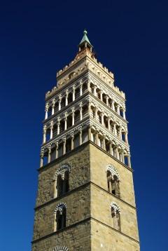 Duomos campanile , Cattedrale di San Zeno, middelalder, historisk bydel, gamleby, Pistoia, Toscana,