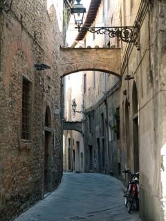middelalder, historisk bydel, gamleby, Pistoia, Toscana, Italia