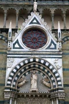 portalen til San Paolo, middelalder, historisk bydel, gamleby, Pistoia, Toscana,