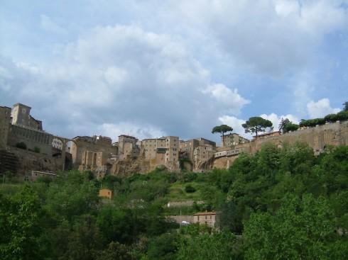 Pitigliano, klippeby, etruskere, renessanse, middelalder,, historisk bydel, gamleby, Toscana, Midt-Italia, Italia