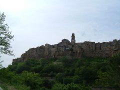Klippebyen, Pitigliano, etruskere, renessanse, middelalderhistorisk bydel, gamleby, Toscana, Midt-Italia, Italia