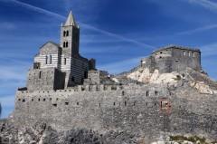 Chiesa, San Pietro, Portovenere, Cinque Terre, Liguria, Nord-Italia, Italia