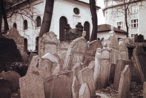 Den jødiske kirkegården, Praha, Stare Mesto, Unesco Verdensarven, middelalder, markedsplassen, Karlsbroen, Böhmen, Tsjekkia