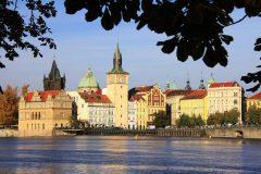 Vlatava, Smetanamuseet, Praha, Stare Mesto, Unesco Verdensarven, middelalder, markedsplassen, Karlsbroen, Böhmen, Tsjekkia