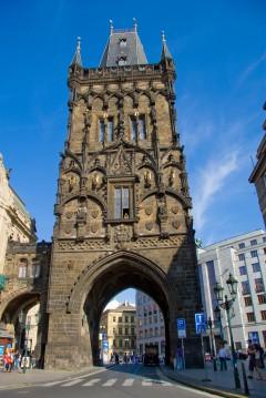 Kruttårnet, Praha, Stare Mesto, Unesco Verdensarven, middelalder, markedsplassen, Karlsbroen, Böhmen, Tsjekkia