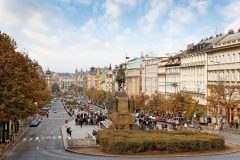 Vaclav-plassen, nybyen, Praha, Stare Mesto, Unesco Verdensarven, Böhmen, Tsjekkia