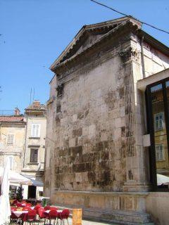 Pula, gamlebyen, historisk bysenter, romeske templer, romertid, amfiteater, Istria, Kroatia