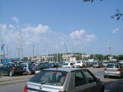 Pula, lystbåthavnen, gamlebyen, historisk bysenter, romertid, amfiteater, Istria, Kroatia