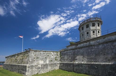 Pula, gamlebyen, venetiansk festning, historisk bysenter, romertid, amfiteater, Istria, Kroatia