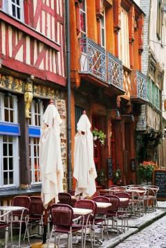 Rennes, historisk, bindingsverkshus, Vielle Ville, gamleby, middelalder, Bretagne, Vest-Frankrike, Frankrike