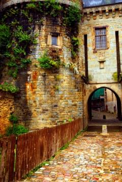 Porte Mordelaise, Rennes, historisk, bindingsverkshus, gamleby, middelalder, Bretagne, Vest-Frankrike, Frankrike