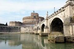 Ponte Sant'Angelo, Roma, Unescos liste over Verdensarven, romerriket, Forum, antikken, historiske bydeler, gamlebyen, Trastevere, den evige stad, Tiber, Vatikanet, Panthon, Roma, Midt-Italia, Italia