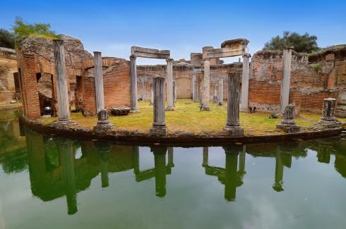 Hadrians Villa i Tivoli, Roma, Unescos liste over Verdensarven, romerriket, Forum, antikken, historiske bydeler, gamlebyen, Trastevere, den evige stad, Tiber, Vatikanet, Panthon, Roma, Midt-Italia, Italia