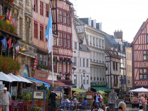 Place du Vieux Marché, Jeanne d'Arc, Rouen, bindingsverk, Vieux Ville, Unescos liste over Verdensarven, Normandie, Vest-Frankrike, Frankrike