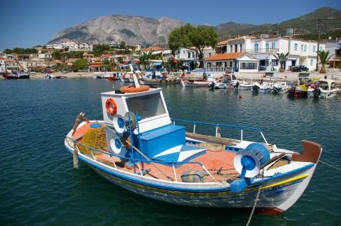 Fra den idylliske Marathokampos - en liten fiskerlandby sør på Samos, Helles