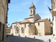 Collegiata da San Quirico, San Quirico d 'Orcia, middelalder, romansk, historisk, Toscana, Midt-Italia, Italia