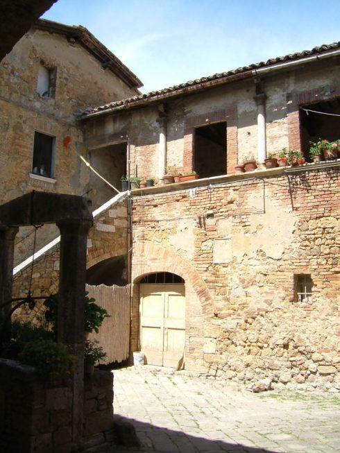 San Quirico d 'Orcia, middelalder, romansk, historisk, Toscana, Midt-Italia, Italia