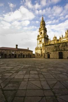 Praza da Quintana, Katedralen Santiago de Compostela, Unescos liste over Verdensarven, Galicia, Nord-Spania, Spania