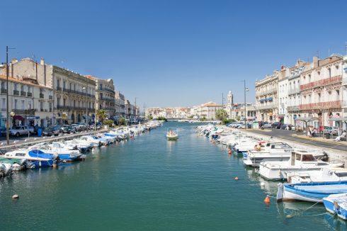 Sête, Viuex ville, kanal, Canal du Midi, havnen, gamlebyen, middelalder, Sør-Frankrike, Frankrike