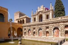 Real Alcazar, Sevilla, Guadalquivir, Unescos liste over Verdensarven, historisk bydel, gamleby, Andalucia, Spania