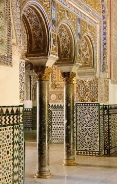 """""""Palacio de Don Pedro"""", Real Alcazar, Sevilla, Catedral de Santa María de la Sede, Guadalquivir, Unescos liste over Verdensarven, historisk bydel, gamleby, Andalucia, Spania"""