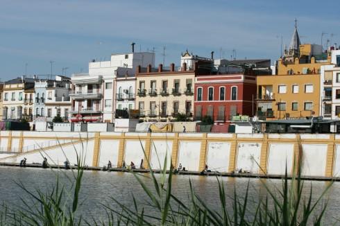 Bydelen Triana, Sevilla, Guadalquivir, Unescos liste over Verdensarven, historisk bydel, gamleby, Andalucia, Spania