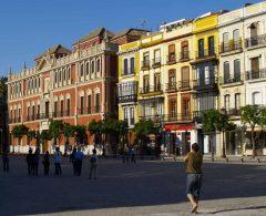 Sevilla, Catedral de Santa María de la Sede, Guadalquivir, Unescos liste over Verdensarven, historisk bydel, gamleby, Andalucia, Spania