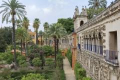 Palasset Real Alcazar, Sevilla, Unescos liste over Verdensarven, historisk bydel, gamleby, Andalucia, Spania
