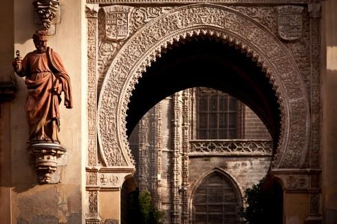 Real Alcazar, Sevilla, Catedral de Santa María de la Sede, Guadalquivir, Unescos liste over Verdensarven, historisk bydel, gamleby, Andalucia, Spania