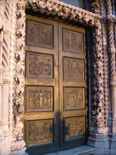 St Jacobs vestportal, Sibenik, Adriaterhavet, gamlebyen, historisk bysenter, Unescos liste over Verdensarven, middelalder, renessanse, Zadarkysten og øyene, Kroatia