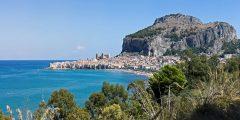 Rocca, Cefalu, Sicilia, normannisk, Sør-Italia, Italia