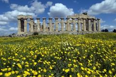 Selinunte, Sicilia, antikken, greske templer, dorisk tempel, Sør-Italia, Italia
