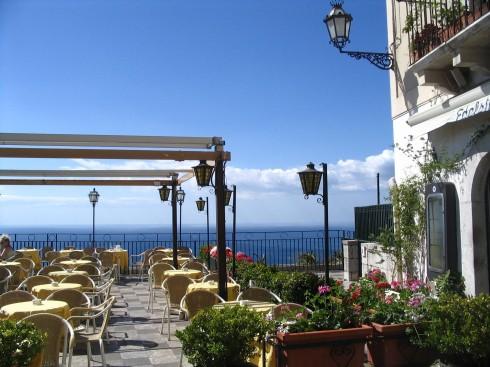 Taormina, Sicilia, antikken, Sør-Italia, Italia