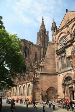 Strasbourg, Grand Ile, Cathédrale Notre Dame, bindingsverk, Unescos liste over Verdensarven, Nord-Frankrike, Frankrike