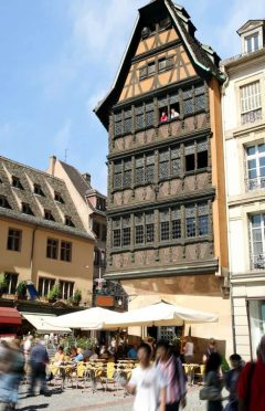 Maison Kammerzell, Strasbourg, Grand Ile, bindingsverk, Unescos liste over Verdensarven, Nord-Frankrike, Frankrike