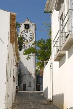 gamlebyen, kirke, Tavira, Algarvekysten, Sør-Portugal, Portugal