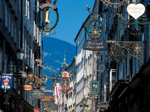Getreidegasse, Salzburg, Altstadt, Mozart, Unescos liste over Verdensarven, Tyrol og Salzburg, Østerrike