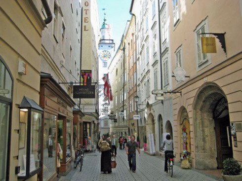 Goldstrasse, Salzburg, Altstadt, Mozart, Unescos liste over Verdensarven, Tyrol og Salzburg, Østerrike