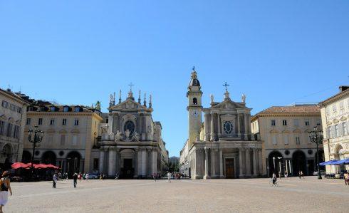 Torinos Piazza San Carlo, kirkene Santa Cristina og San Carlo, Torino, Valle d'Aosta og Piemonte, Unescos liste over Verdensarven, barokk-arkitektur, Nord-Italia, Italia