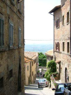 Cortona, renessanse, middelalder, historisk bydel, gamleby, Toscana, Midt-Italia, Italia