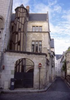 Place Plumerau, Tours, vielle ville, gamlebyen, middelalder, bindingsverk, Vieux-Tours, historisk bysenter, Indre-et-Loire, Loiredalen, Vest-Frankrike, Frankrike