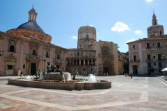 Plaza de la Virgen, med Basilica de la Virgen, Valencia, Unescos liste over Verdensarven, Costa Blanca og Valencia, Spania