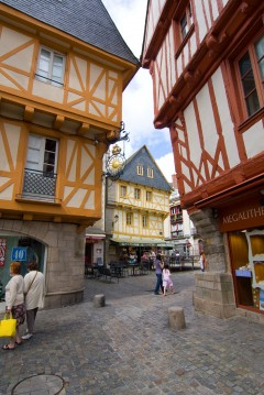 Vannes, historisk, bindingsverkshus, gamleby, middelalder, Gole du Mohiban, Bretagne, Vest-Frankrike, Frankrike
