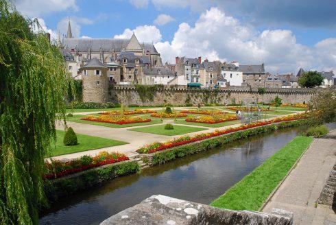 Château Hermine, Vannes, historisk, bindingsverkshus, gamleby, middelalder, Gole du Mohiban, Bretagne, Vest-Frankrike,