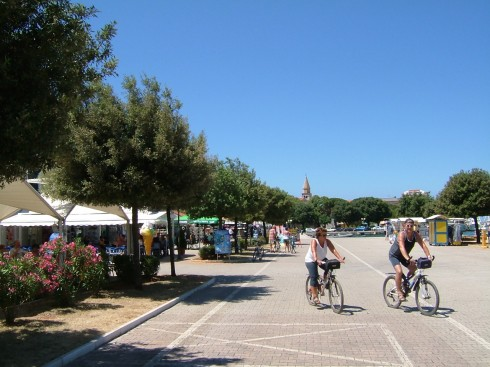 Umag, gamlebyen, historisk bysenter, middelalder, Adriaterhavet, Istria, Kroatia