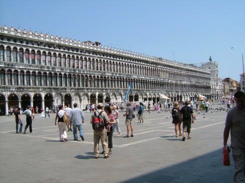 Venezia, Marcus-plassen, Canal Grande, Unescos liste over Verdensarven, middelalder, gotikken, evangelisten Marcus, renessanse-arkitektur, Veneto, Nord-Italia, Italia