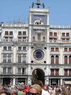 Torre dell'Orologio, Piazza San Marco, Venezia, Marcus-plassen, Canal Grande, Unescos liste over Verdensarven, middelalder, gotikken, evangelisten Marcus, renessanse-arkitektur, Veneto, Nord-Italia, Italia